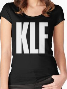 KLF TEXT TEE Women's Fitted Scoop T-Shirt