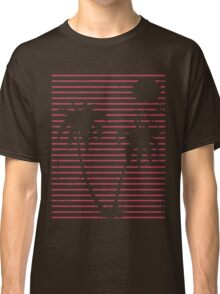 Distressed Pink Beach Palms Classic T-Shirt