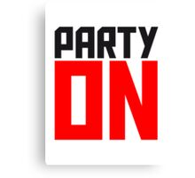 Party On Logo Canvas Print