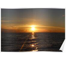 Indian Ocean sunset Poster