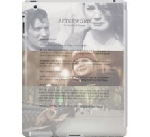 Afterword By Amelia Williams iPad Case/Skin