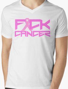 FUCK CANCER Mens V-Neck T-Shirt