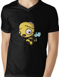 Bee zombie Mens V-Neck T-Shirt
