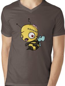 Bee zombie Mens V-Neck T-Shirt