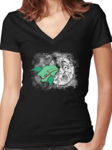 Voyage dans la lune Women's Fitted V-Neck T-Shirt