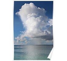 Indian Ocean Cloudy Sky Poster