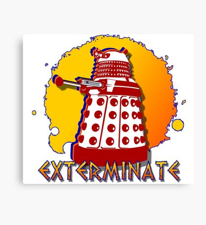 Doctor Who: Exterminate Dalek Art Canvas Print