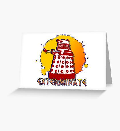 Doctor Who: Exterminate Dalek Art Greeting Card