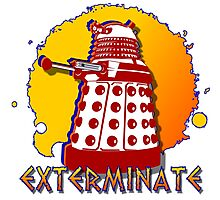 Doctor Who: Exterminate Dalek Art Photographic Print