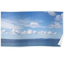 Seascape with Cloudy Sky Poster