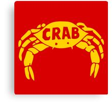Crab Records Canvas Print