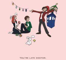 The Doctor is Late Kids Tee
