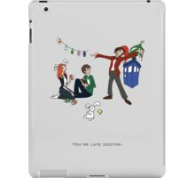 The Doctor is Late iPad Case/Skin