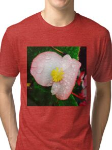 Flower Covered In Dew Tri-blend T-Shirt