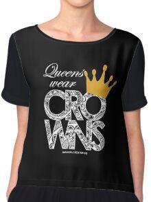 Queens Wear Crowns - BLACK Chiffon Top