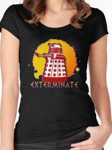 Doctor Who: Exterminate Dalek Art Women's Fitted Scoop T-Shirt