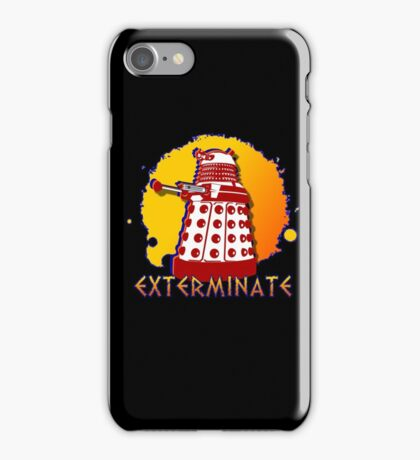Doctor Who: Exterminate Dalek Art iPhone Case/Skin