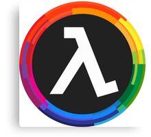 Half Life Logo (Rainbow) Canvas Print