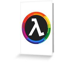Half Life Logo (Rainbow) Greeting Card
