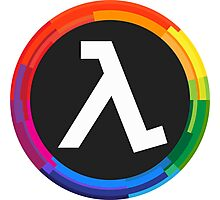 Half Life Logo (Rainbow) Photographic Print