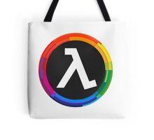 Half Life Logo (Rainbow) Tote Bag