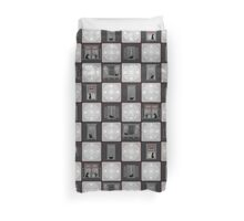 Cats in Windows Patchwork Duvet Cover