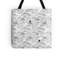 Doodle clouds and cats Tote Bag