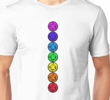 7 Chakras of Buddha Unisex T-Shirt
