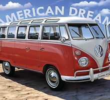 American Dream Volkswagen by retrocereal
