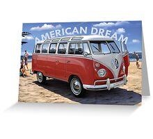 American Dream Volkswagen Greeting Card