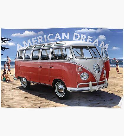 American Dream Volkswagen Poster