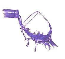 Spilling Wine Photographic Print