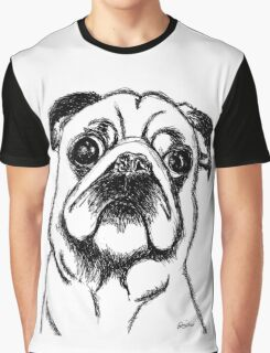 Curious Pug Graphic T-Shirt