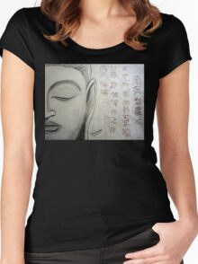 Buddha Face Women's Fitted Scoop T-Shirt