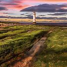 Perch Rock Lighthouse Sunset by Adrian Evans
