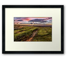 Perch Rock Lighthouse Sunset Framed Print