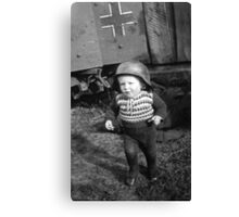 German Babe Playing Soldier During WW2 Canvas Print