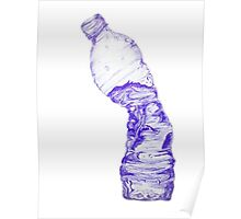 Crushed Water Bottle Poster