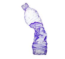 Crushed Water Bottle Photographic Print