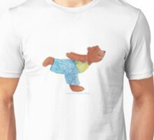 Grizzly Bear in Yoga Warrior three pose. Namaste Unisex T-Shirt