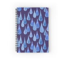 Water drop watercolor hand drawn seamless pattern background. Spiral Notebook