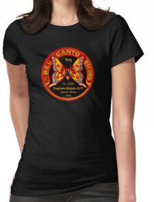 Bel canto 1920 78rpm label gramophone! Womens Fitted T-Shirt
