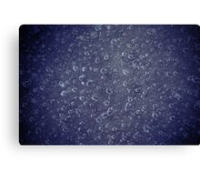 bubble in water Canvas Print