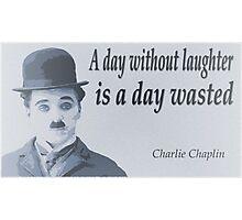 Charlie Says Laugh Photographic Print