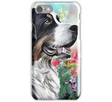 Bernese Mountain Dog Painting iPhone Case/Skin