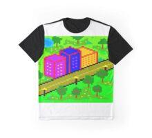 Pixel Town Graphic T-Shirt