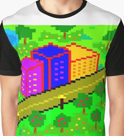 Pixel Town Graphic T-Shirt