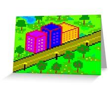 Pixel Town Greeting Card