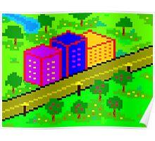 Pixel Town Poster
