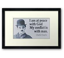 Charlie Says Man Framed Print